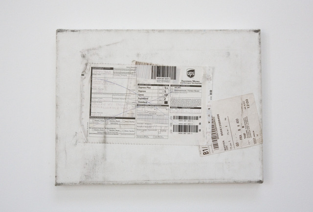 , 'Mailed Painting 3  Berlin - Madrid - Berlin - Düsseldorf - Berlin - München - Siegen - Berlin - Madrid,' 2005, Barbara Gross