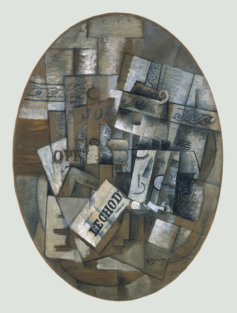 Georges Braque, 'Still life with glass and newspaper (Le Gueridon)', 1913, ARS/Art Resource