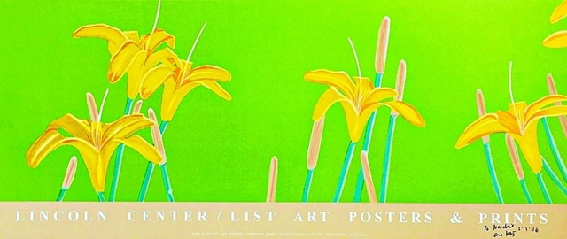 Alex Katz, 'Day Lilies (Hand Signed and Inscribed)', 1992, Print, Silkscreen poster. hand signed, dated and inscribed in black marker. unframed., Alpha 137 Gallery Gallery Auction