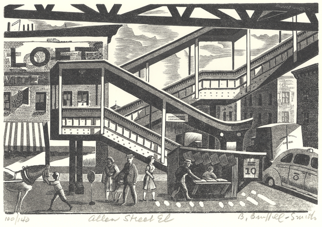 , 'Allen Street El,' 1941, Childs Gallery