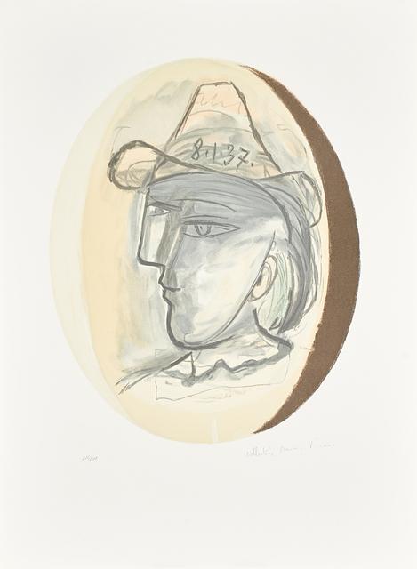 Pablo Picasso, 'Two Artworks: Guitare Verre et Bouteille; Tete', Rago