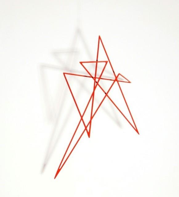 , 'Trait 58 rouge vermillon,' 2014, Galerie Marie-Robin