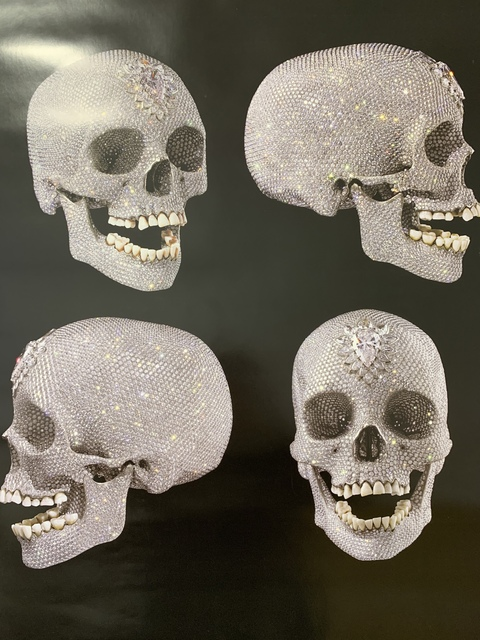 Damien Hirst Damien Hirst For The Love Of God The Diamond Skull Beyond Belief Skull Drawingf 2007 Artsy