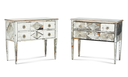 Pair of Mirrored Chests