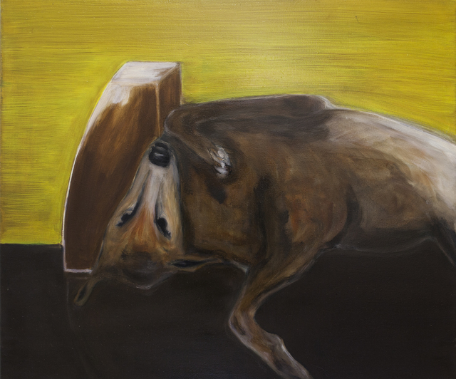 , 'Dog lying on the back (ochre),' 2017, Galerie Bart