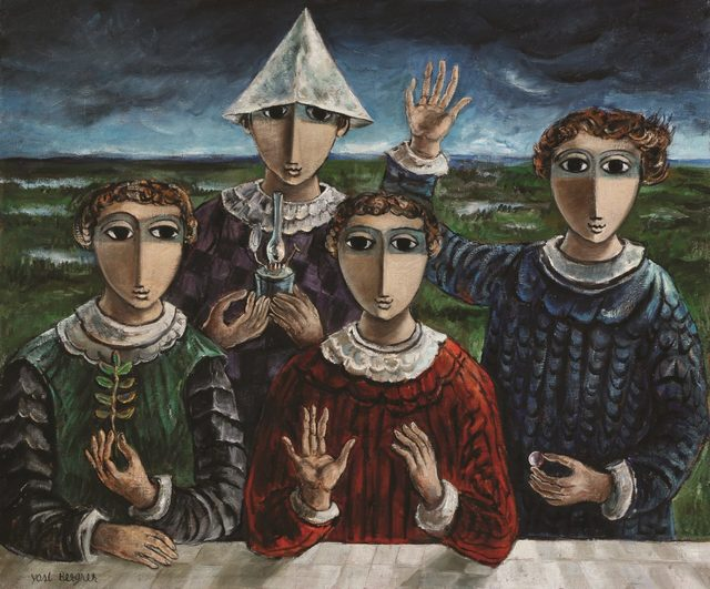 Yosl Bergner, 'Gifts, Oil on canvas, 84X100 cm. Signed. Signed and titled on the reverse.', 1920-2017, Tiroche Auction House & Gallery