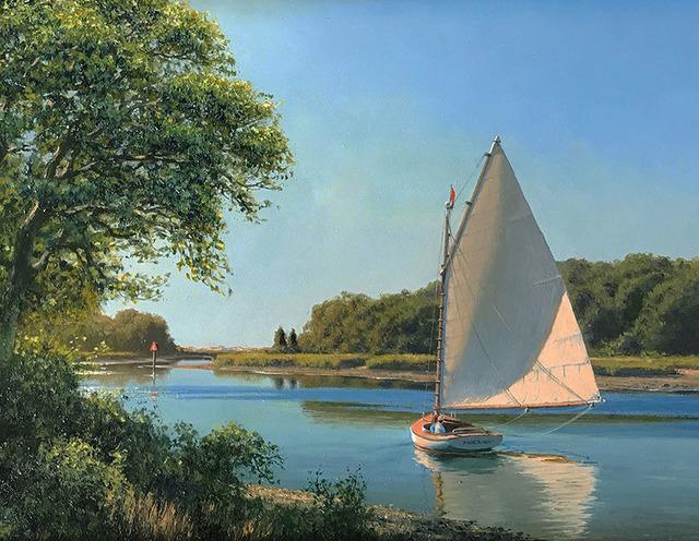 Joseph McGurl, 'Light on the Sail', 2018, The Guild of Boston Artists