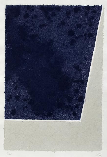 Ellsworth Kelly, 'Colored Paper Image X (Blue and Gray)', 1976, Print, Colored and pressed paper pulp, Mary Ryan Gallery, Inc