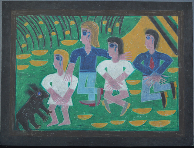 Eddie Arning, 'Ted Kennedy and Family', ND, Webb Gallery