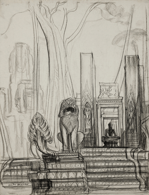 , 'Naga and lion, Angkor,' 1948-1958, Galerie Dumonteil