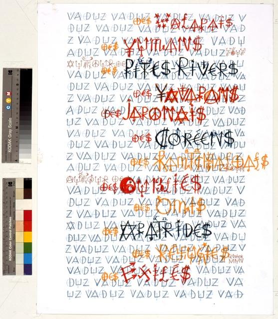 Jacques Villeglé, 'Vaduz',  2005, Galerie Natalie Seroussi