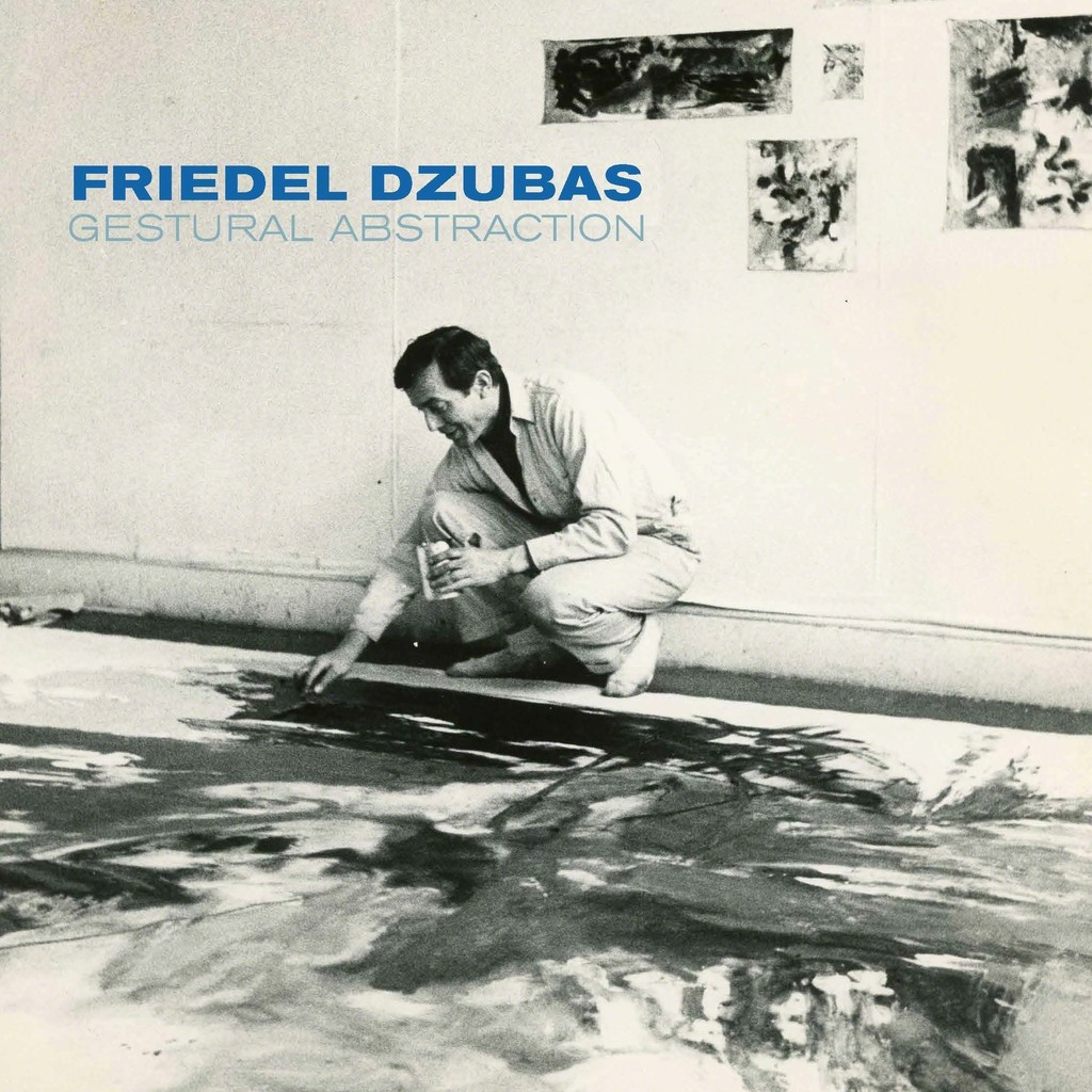 Friedel Dzubas in his 62 West 9th Street Studio, 1959, Image Courtesy of the Friedel Dzubas Estate Archives