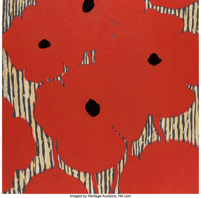 Donald Sultan, 'Eight Red Poppies with flocked centers', 2002, Heritage Auctions