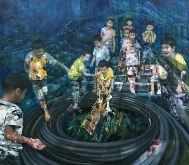 Li Tianbing, 'Catch The Mice Underwater', 2017, Painting, Oil on canvas, Cuturi Gallery
