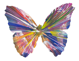 Butterfly Spin Painting (Created at Damien Hirst Spin Workshop)
