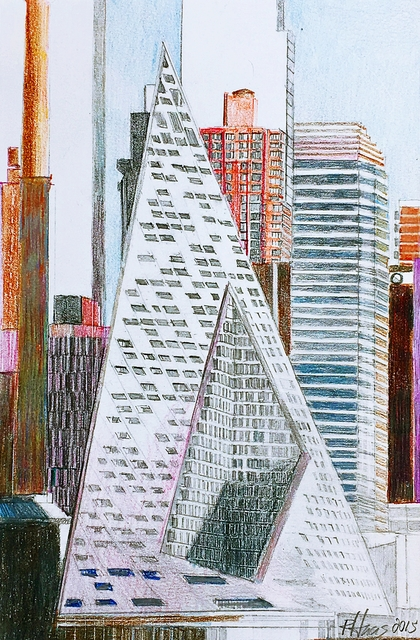 Richard Haas, 'Study for the VIA 57 West Building (Architect: Bjarke Ingels)', 2015, Alpha 137 Gallery