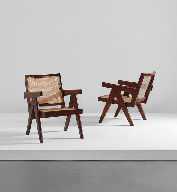 "Pierre Jeanneret, 'Pair of ""Easy"" armchairs, model no. PJ-SI-29-A', 1955-1956, Phillips"