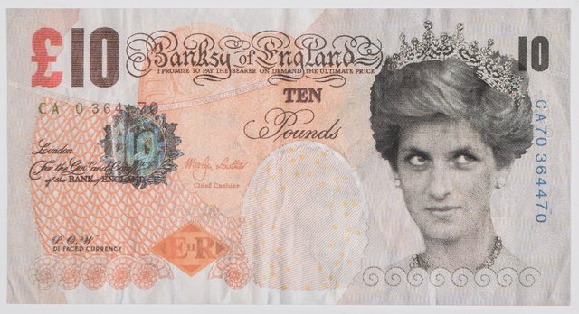 Banksy, 'Di-Faced Tenner, 10 GBP Note', 2005, Heritage Auctions