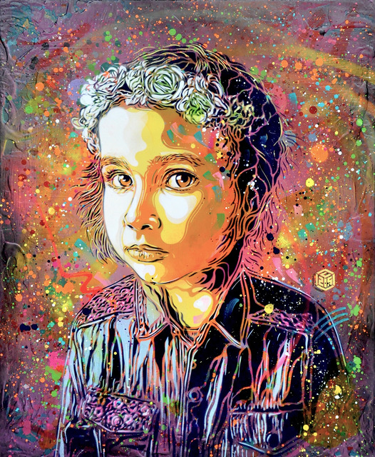 , 'Girl with crown of flowers,' 2018, Mazel Galerie