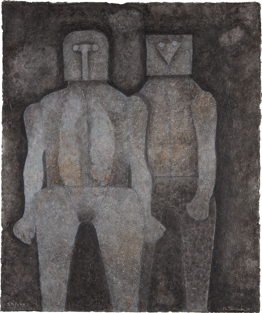 Rufino Tamayo, 'Dos Hermanos (Two Brothers)', 1987, Print, Mixografía® print in colors, on heavy handmade paper, the full sheet, Phillips