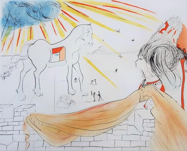 Salvador Dalí, 'Helen and the Trojan Horse (Hélène et le cheval de Troie)', 1972, Print, Drypoint Etching, Graves International Art