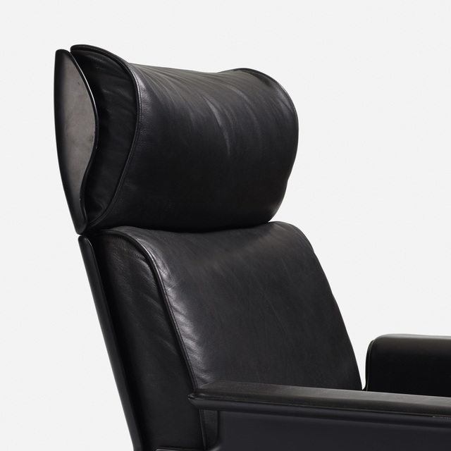 Vitsoe, 'First generation 620 high back lounge chair', 1962, Design/Decorative Art, Lacquered fiberglass, leather, plastic, matte chrome-plated steel, Rago/Wright