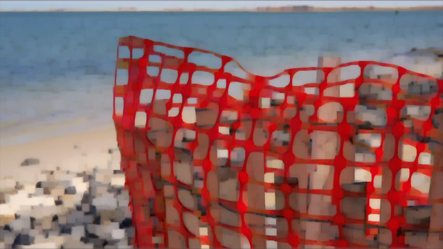 , 'red fence,' 2013, Cristin Tierney