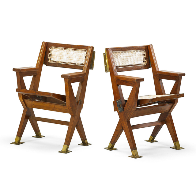 Pierre Jeanneret, 'Two Folding Cinema Seats From The Tagore Theatre In Chandigarh, France/India', 1961, Rago/Wright