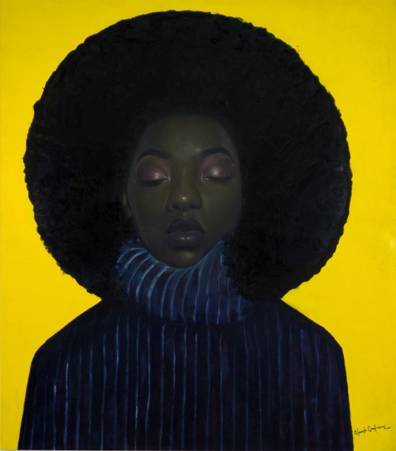 oluwole omofemi, 'Inner Peace ', 2020, Painting, Oil and acrylic on canvas, Out of Africa Gallery