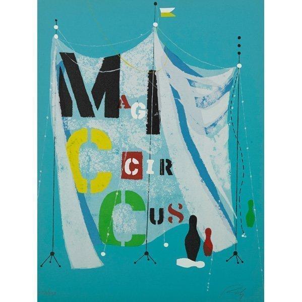 Wolfgang Roth, 'Rare Wolfgang Roth Dada Bauhaus Circus Silkscreen Print', 20th Century, Lions Gallery