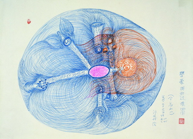 , 'Enlightment of Yi Chin - the Divination methods of Guo Le and Guo Die《启蒙挂扐过揲四图》,' 1990, Long March Space