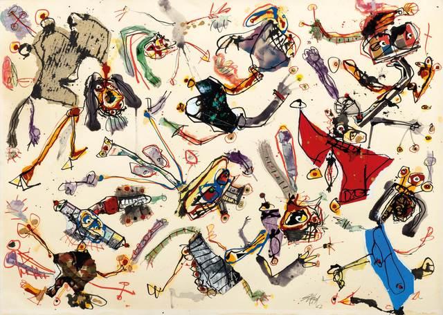 Antonio Saura, 'Cocktail-party 410', 1962, Koller Auctions