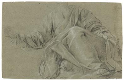 Five sheets of figure studies