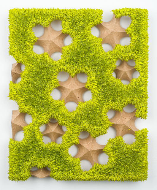 , 'Lot 112015 (spore fall, chartreuse),' 2015, Lora Reynolds Gallery