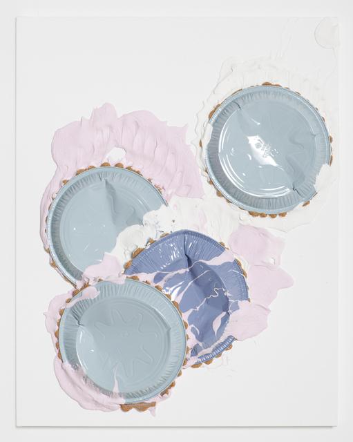 Lucien Smith, 'TBT', 2013, Mixed Media, Aluminum trays, molding paste, and enamel on gessoed canvas, Andrea Festa Fine Art