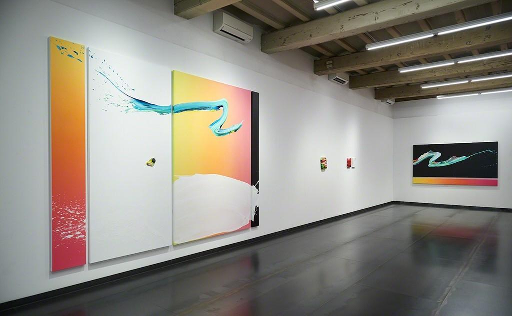Exhibition view Rigor y Rosa by Yago Hortal, galeria SENDA 2018