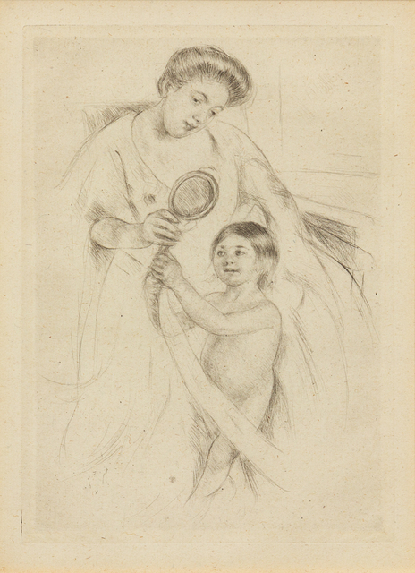 Mary Cassatt, 'Looking into the Hand Mirror #3 (printed after 1926)', Hindman