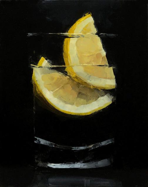 Tom Giesler, 'Floral 49: sliced lemon', 2021, Painting, Oil on panel, McVarish Gallery