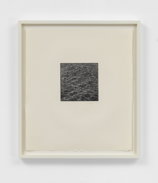 Vija Celmins, 'Untitled (Ocean Woodcut)', 1995, Print, Woodcut, Susan Sheehan Gallery