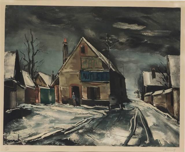 Maurice de Vlaminck, 'RUE EN HIVER', Doyle