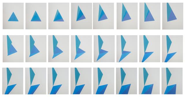 , 'Estudio sobre triángulo (desdoble 1),' 2017, MARSO