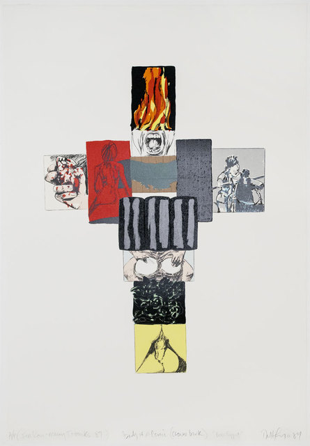 Robert Longo, 'Body of a Comic (Clown Bank)', 1989, Print, Screenprint and lithograph, Brooke Alexander, Inc.