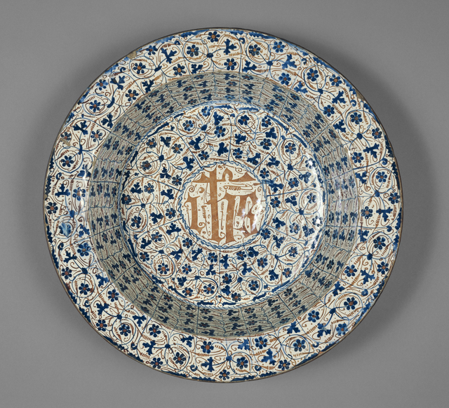 'Hispano-Moresque Basin',  mid-15th century, J. Paul Getty Museum