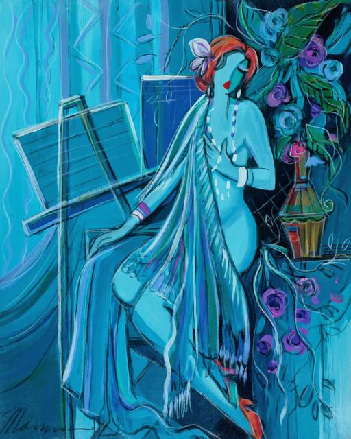 , 'Dame En Bleu,' 2017, Blue Gallery