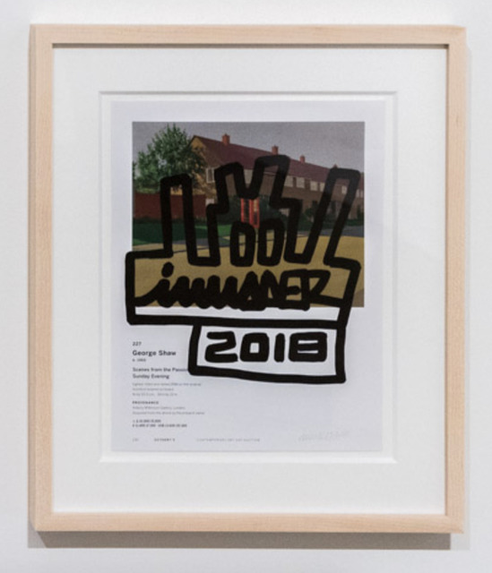 Invader, 'Invader / Shaw', 2018, Drawing, Collage or other Work on Paper, Ink on glossy paper, Taglialatella Galleries