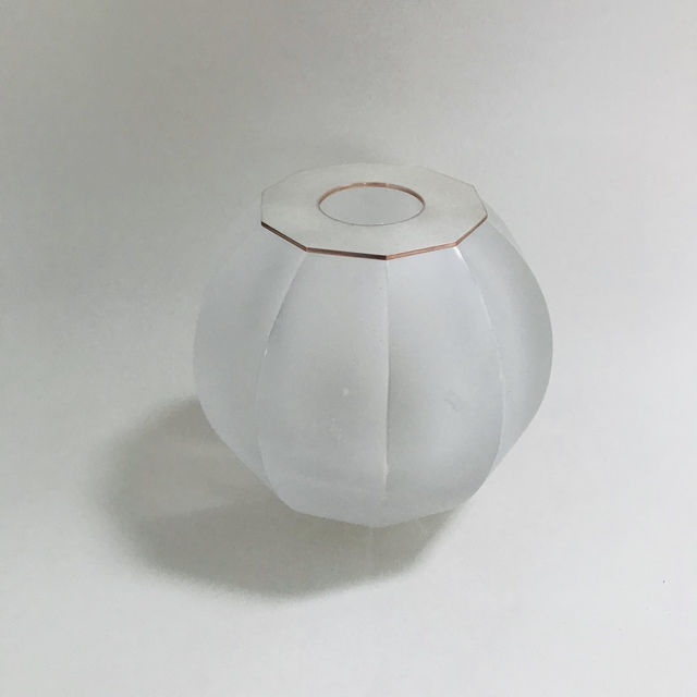 , 'Small clear faceted sphere with copper and silver top,' 2019, von Bartha