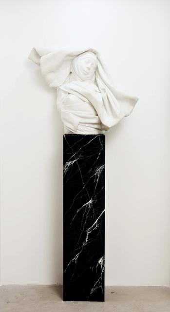 , 'Étude documentaire en marbre : Le Drapé-le baroque. Buste d'ORLAN  en sainte ORLAN ,' 1978, Michel Rein Paris/Brussels