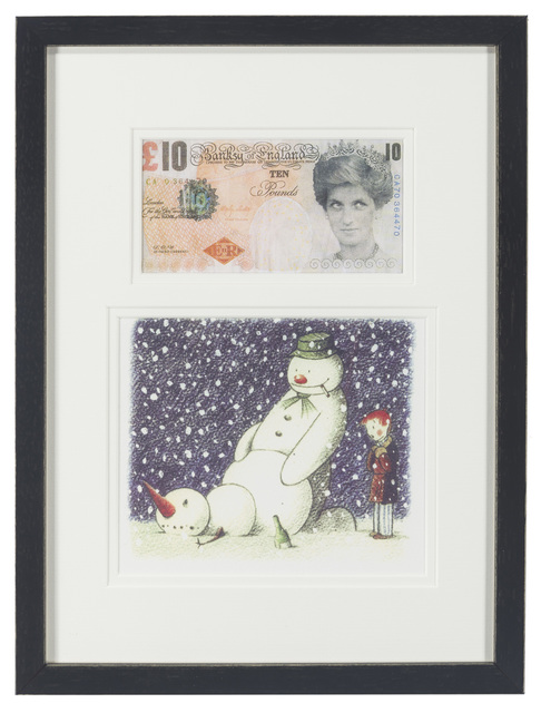 Banksy, 'Two Works: Di-Faced Tenner, Rude Snowman Christmas Card', c.2005, John Moran Auctioneers