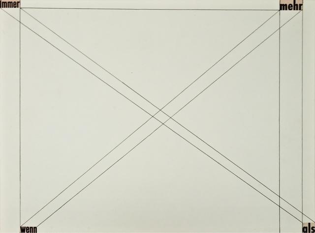 , 'Untitled (Immer mehr wenn als),' 1959, Christine König Galerie