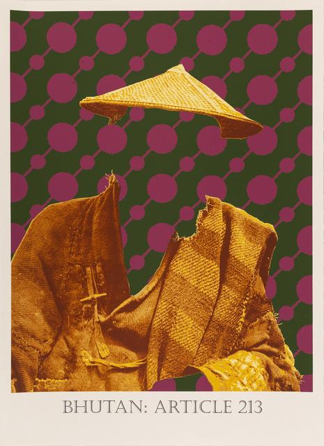 Matt Smith, 'Bhutan: Article 213', 2019, Print, Silkscreen Print on Handmade Indian Cotton Paper, Cynthia Corbett Gallery